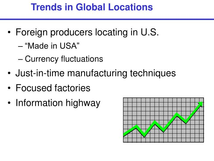 Trends in Global Locations
