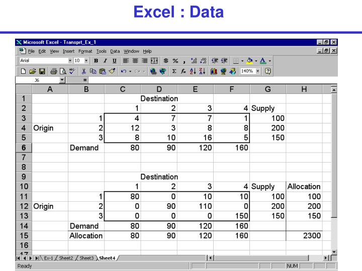 Excel : Data
