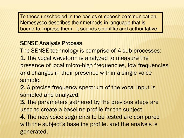To those unschooled in the basics of speech communication,