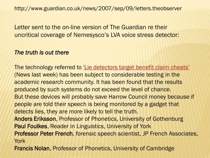 http://www.guardian.co.uk/news/2007/sep/09/letters.theobserver
