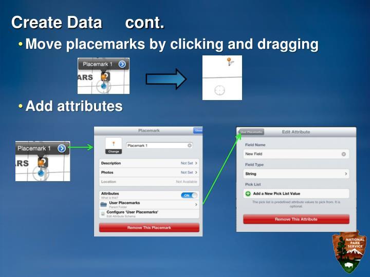 Create Data     cont.