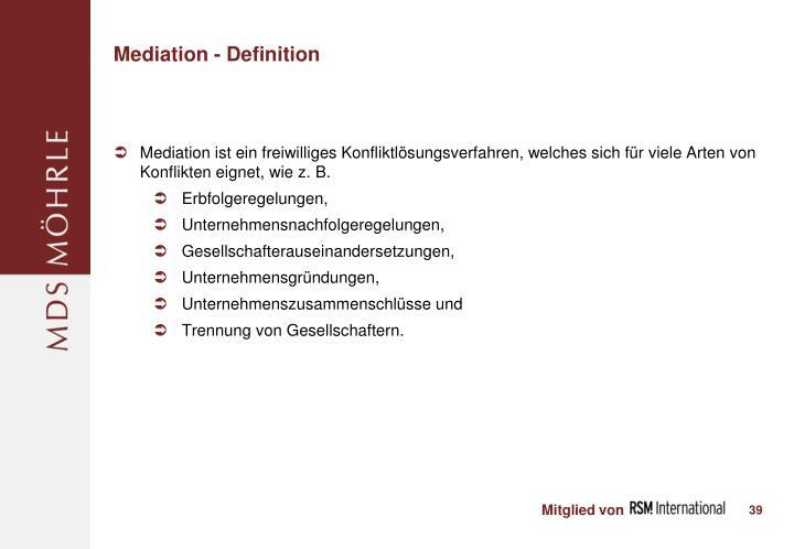 Mediation - Definition