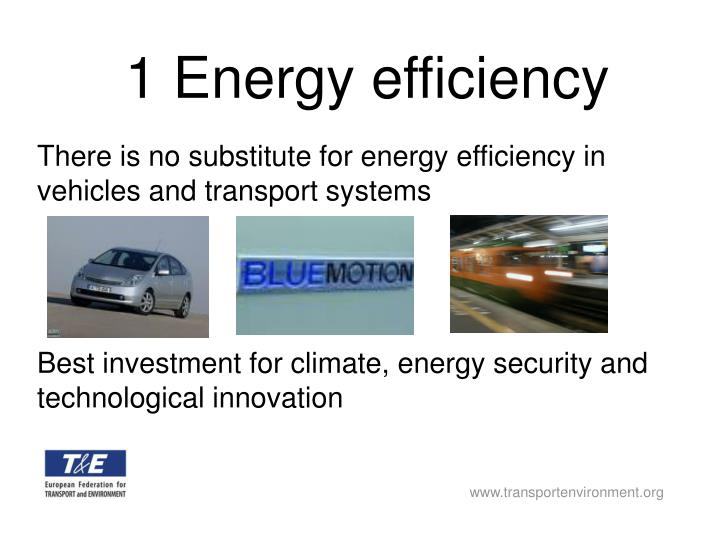 1 Energy efficiency