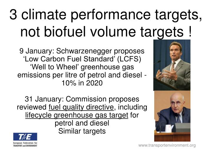 9 January: Schwarzenegger proposes 'Low Carbon Fuel Standard' (LCFS)
