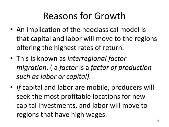 Reasons for growth1