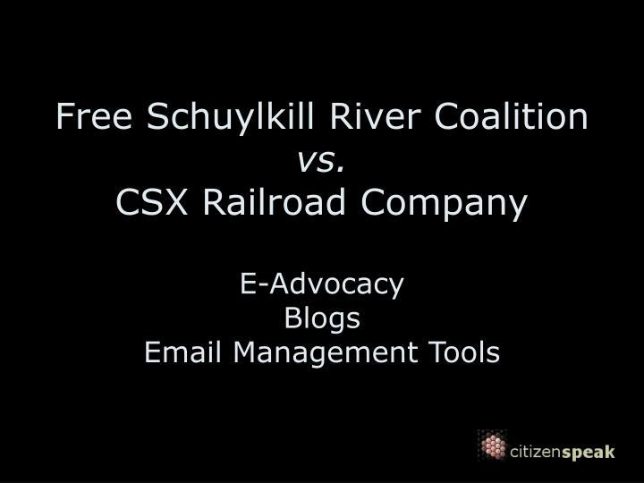 Free Schuylkill River Coalition