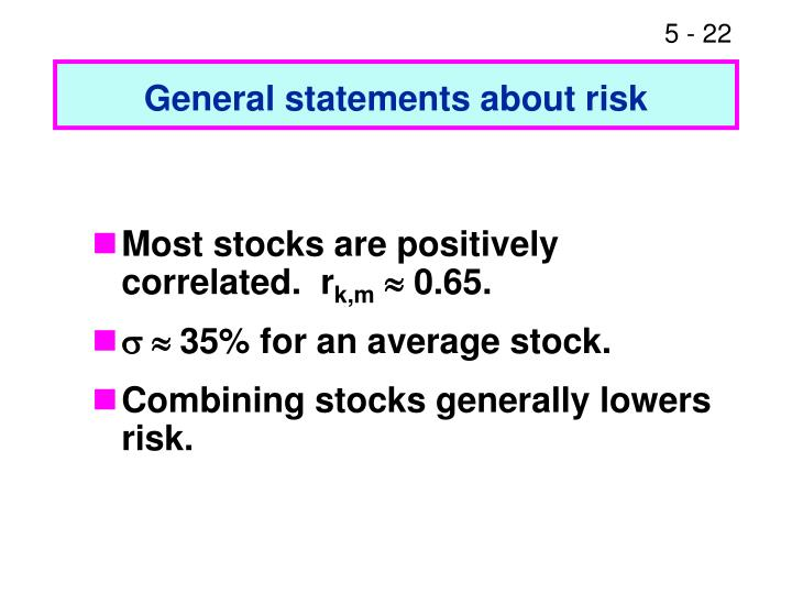 General statements about risk