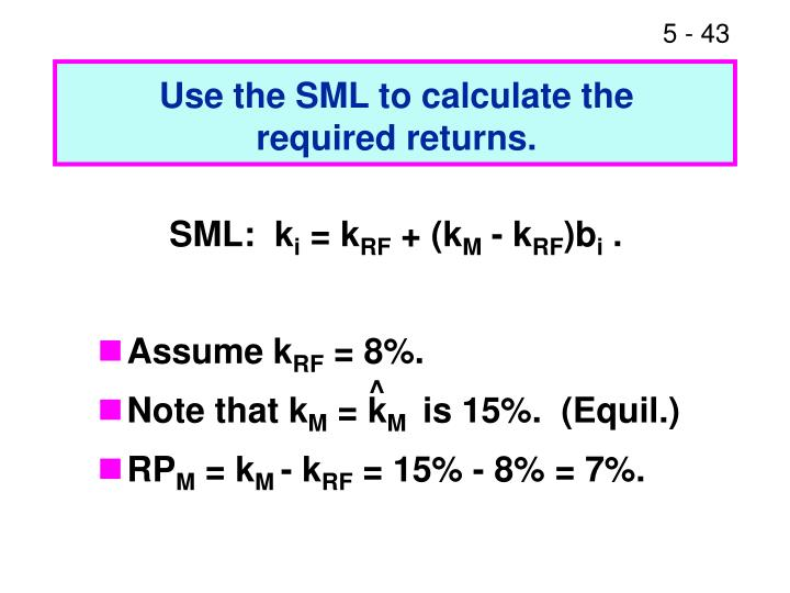 Use the SML to calculate the