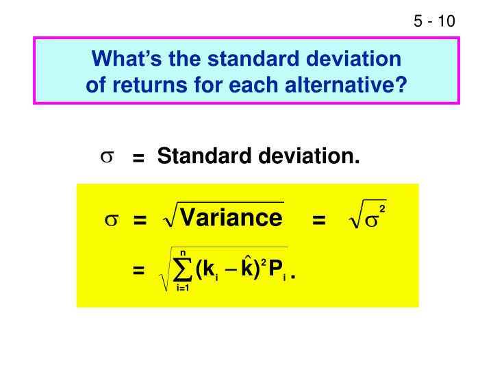 What's the standard deviation