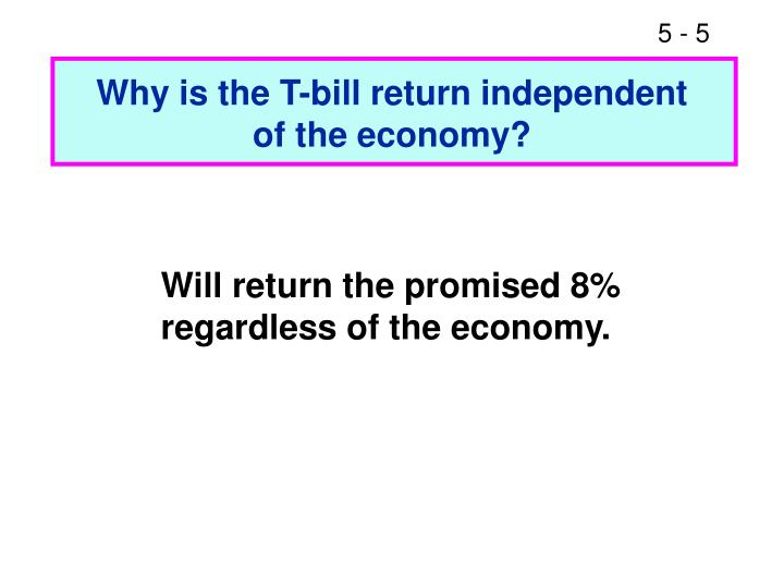 Why is the T-bill return independent