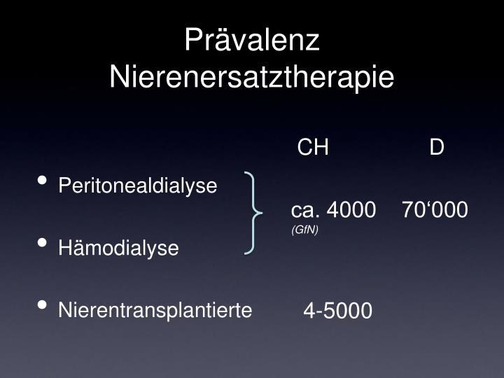 Prävalenz Nierenersatztherapie