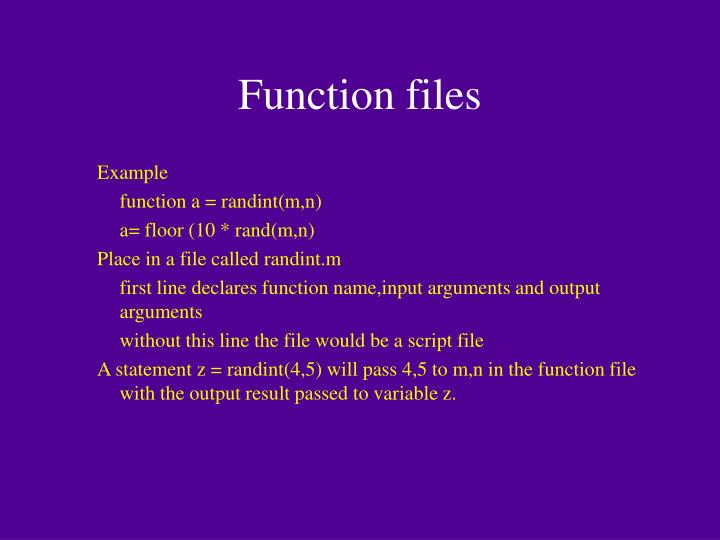Function files
