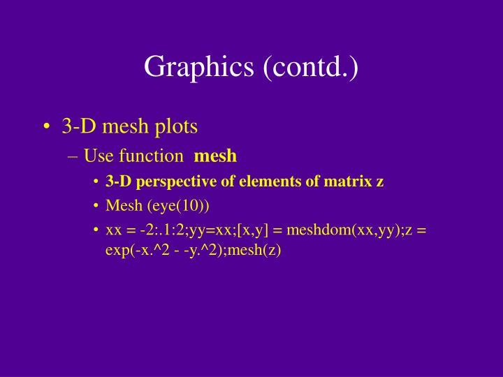 Graphics (contd.)