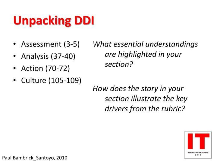Unpacking DDI