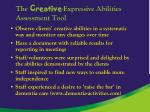 the creative expressive abilities assessment tool