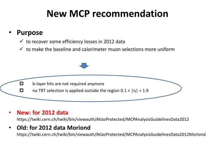 New mcp recommendation