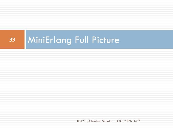 MiniErlang
