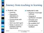 journey from teaching to learning