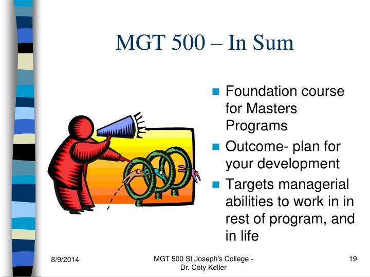 MGT 500 – In Sum
