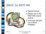smac for mgt 500