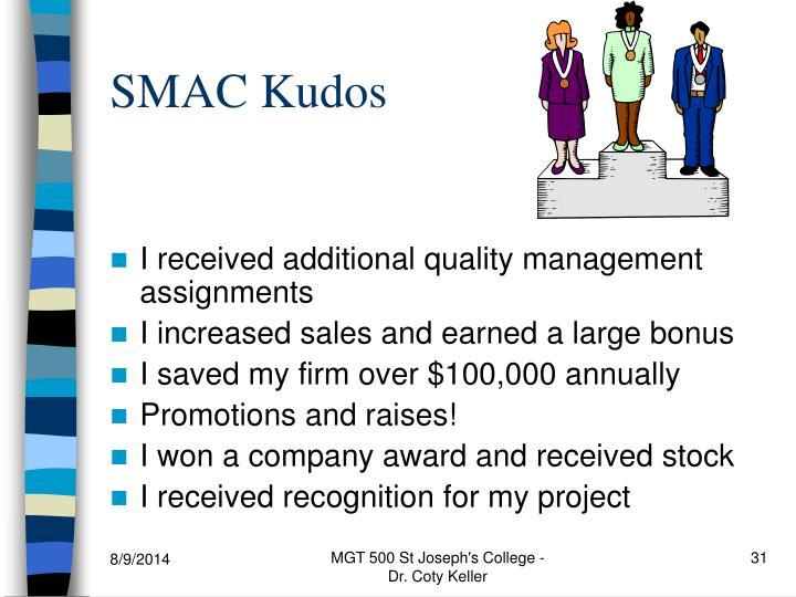 SMAC Kudos