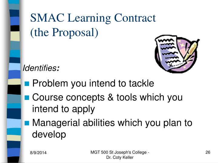 SMAC Learning Contract