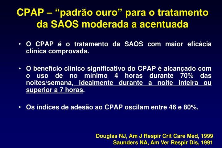 """CPAP – """"padrão ouro"""" para o tratamento da SAOS moderada a acentuada"""