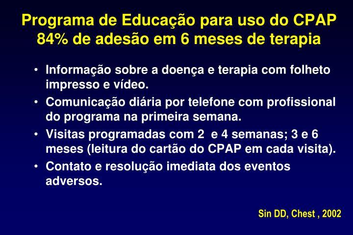 Programa de Educação para uso do CPAP