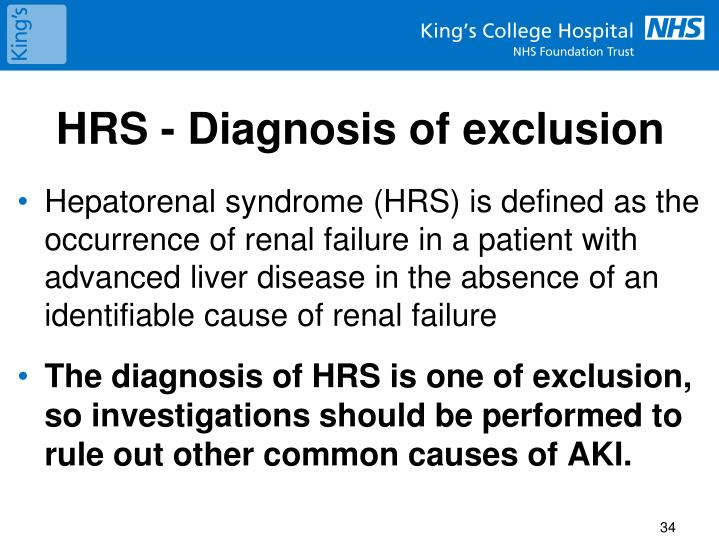 HRS - Diagnosis of exclusion