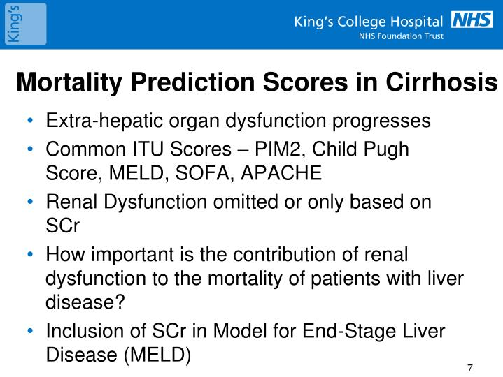 Mortality Prediction Scores in Cirrhosis