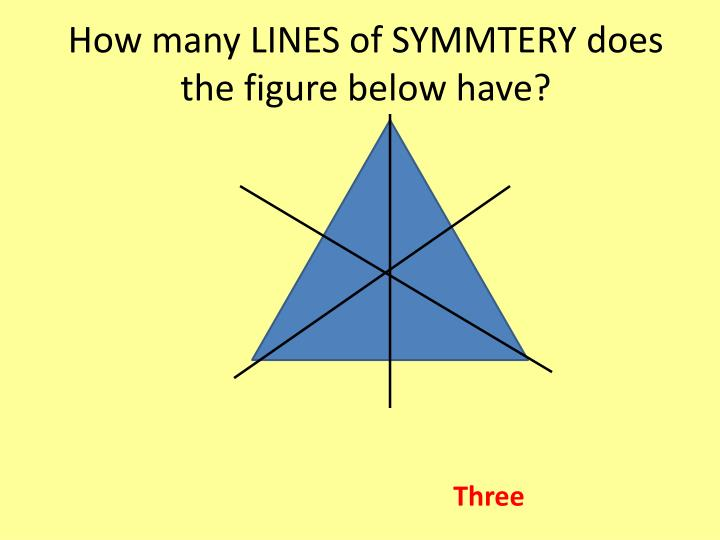 How many LINES of SYMMTERY does the figure below have?