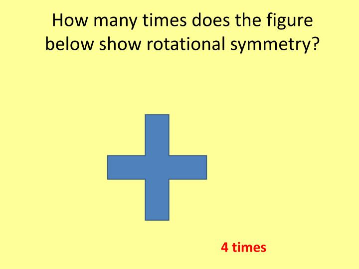 How many times does the figure below show rotational symmetry?