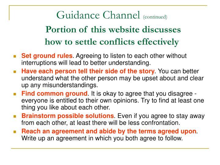 Guidance Channel