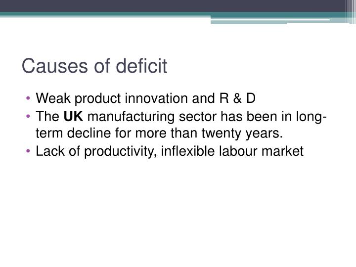 Causes of deficit