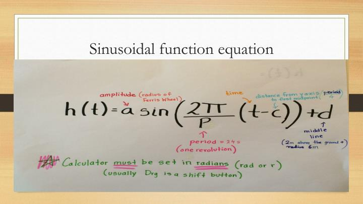 Sinusoidal function equation