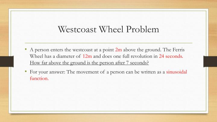 Westcoast wheel problem1
