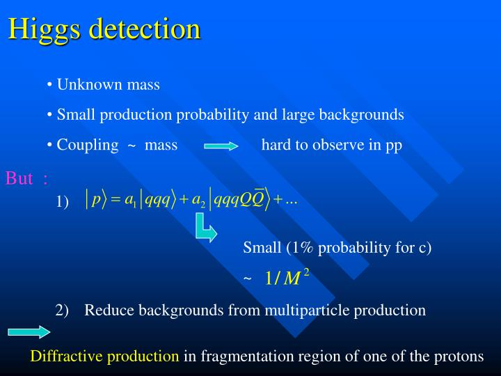 Higgs detection