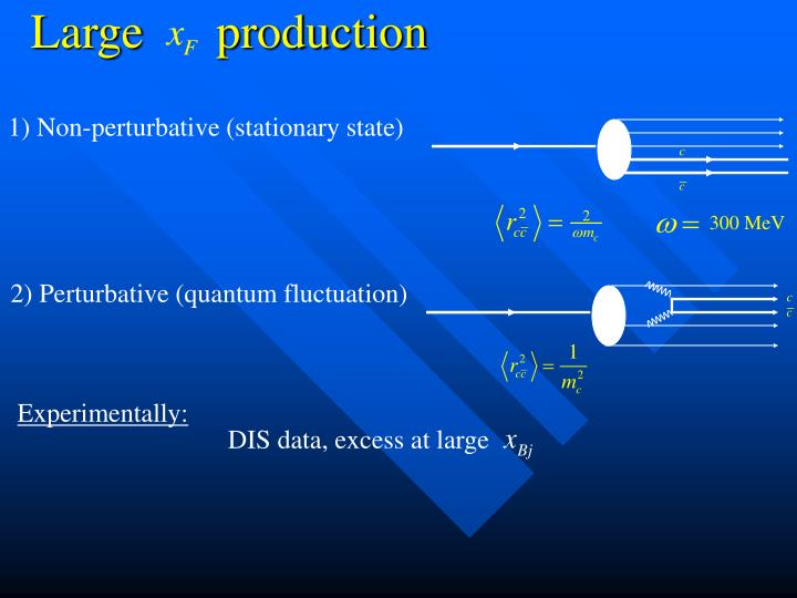 1) Non-perturbative (stationary state)