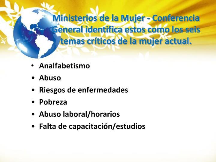 Ministerios de la Mujer -