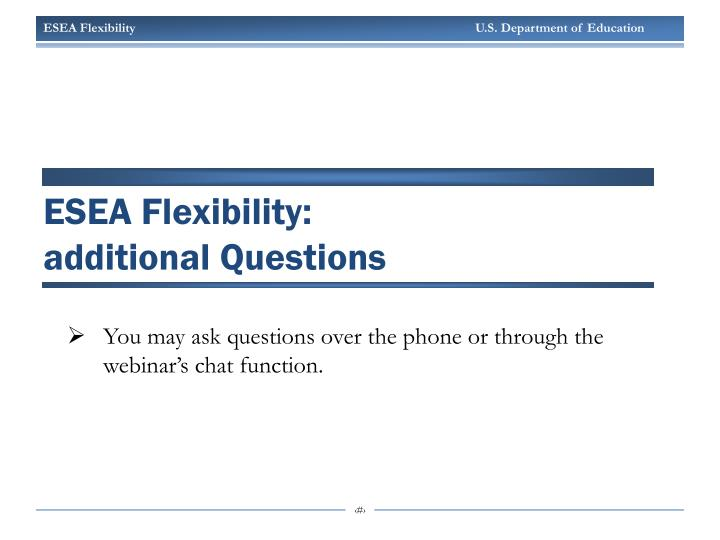 ESEA Flexibility: