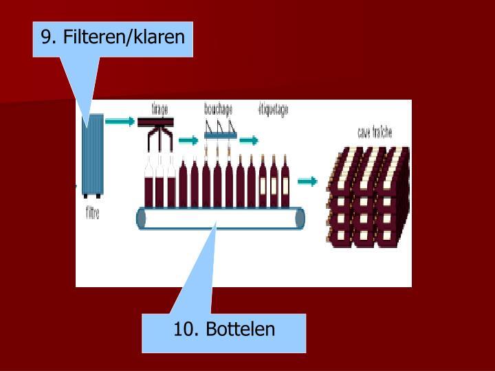 9. Filteren/klaren