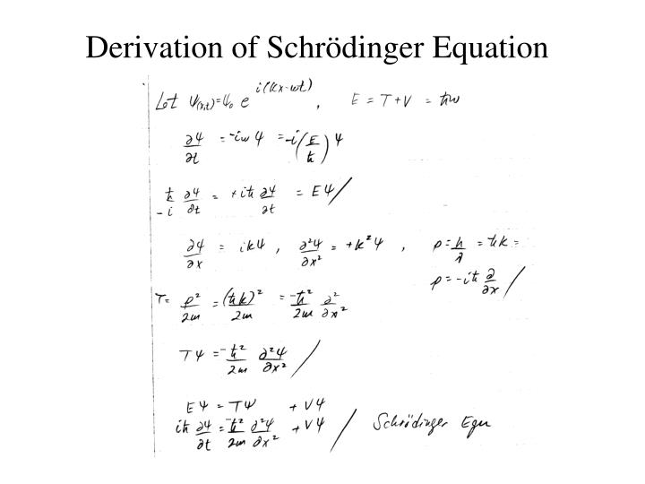 Derivation of Schr