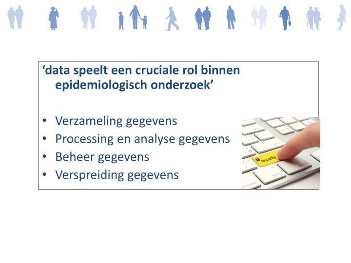 'data speelt een cruciale rol binnen epidemiologisch onderzoek'