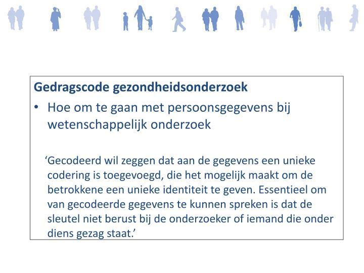 Gedragscode gezondheidsonderzoek