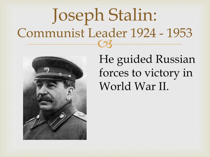 Joseph Stalin: