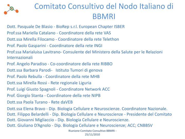 Comitato Consultivo del Nodo Italiano di BBMRI