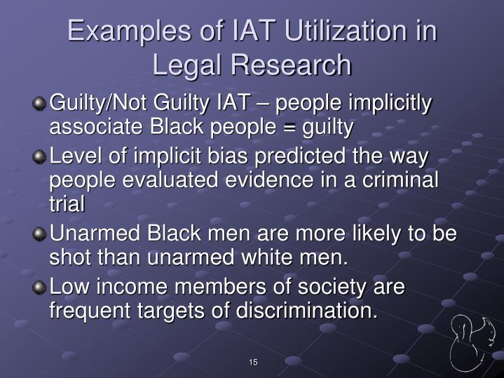 Examples of IAT Utilization in Legal Research
