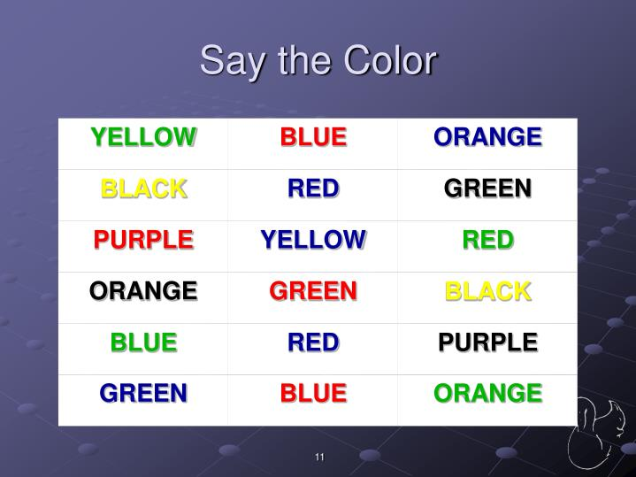 Say the Color
