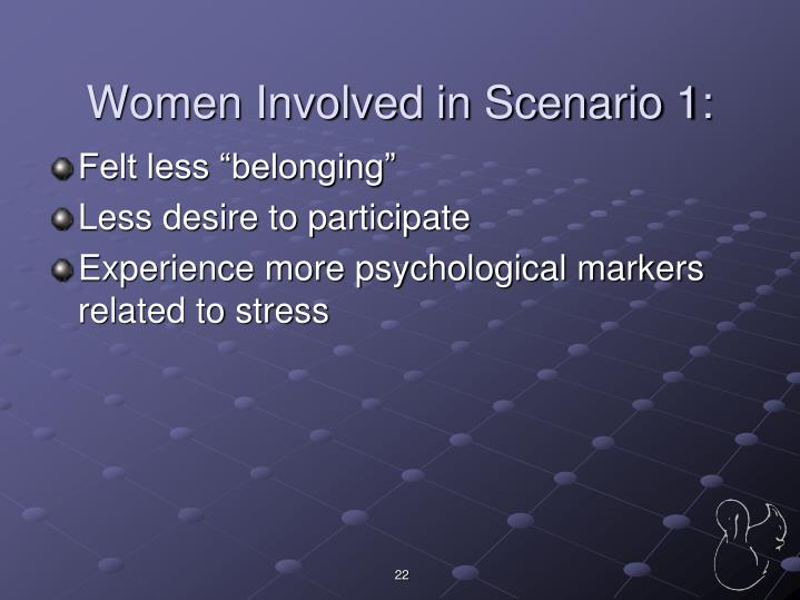 Women Involved in Scenario 1: