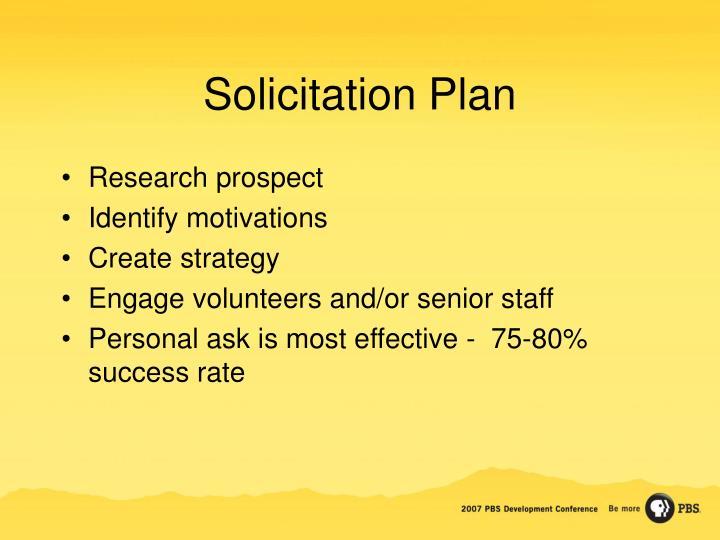 Solicitation Plan